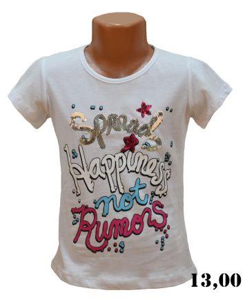 Тениска момиче KU1487 р.116/6год.