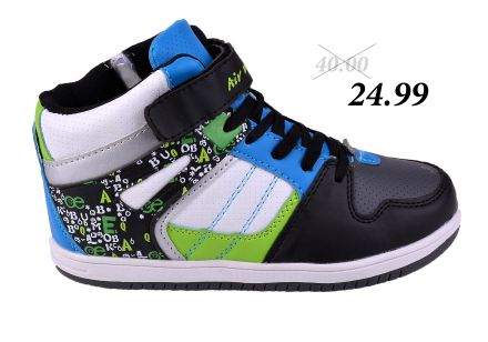 МАТ СТАР AIR SPORT 14-9168 Blk/Wht/Blue 30/35