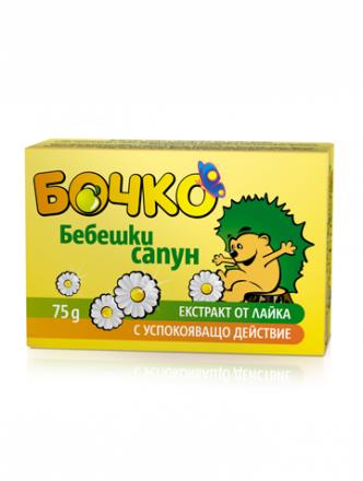 Бочко-Бебешки сапун с екстракт от лайка- 75g