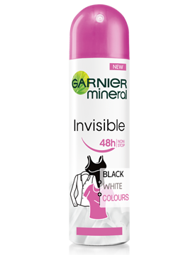 Garnier Invisible black&white дезодорант-спрей 150ml