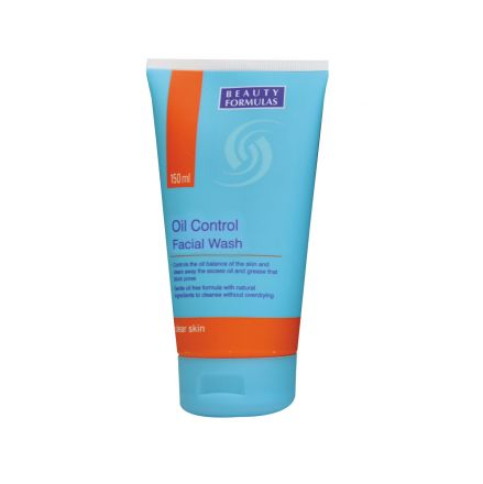 Beauty Formulas Oil Control измиващ гел за лице за мазна кожа 150ml