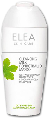 Elea Skin care почистващо мляко за лицe за мазна кожа 200ml