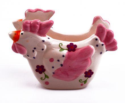 Великденски керамичен салфетник Кокшка