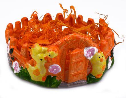 Великденска поставка за яйца ограда-оранжева