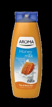 Aroma Fresh Мляко и Мед балсам за тънка и слаба коса 400ml