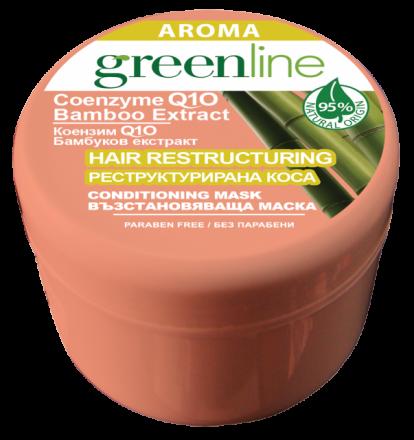 Aroma GreenLine маска за коса с екстракт от бамбук 240ml