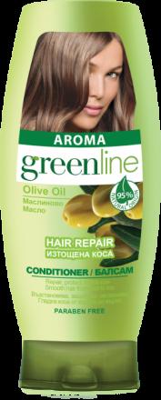 Aroma GreenLine балсам за изтощена коса екстракт от маслиново масло 250ml
