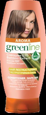 Aroma GreenLine балсам за реструктурирана коса с екстракт от бамбук 250ml
