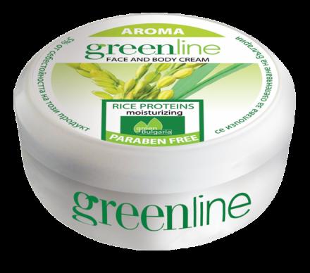Aroma GreenLine универсален хидратиращ крем с оризови протеини 145ml