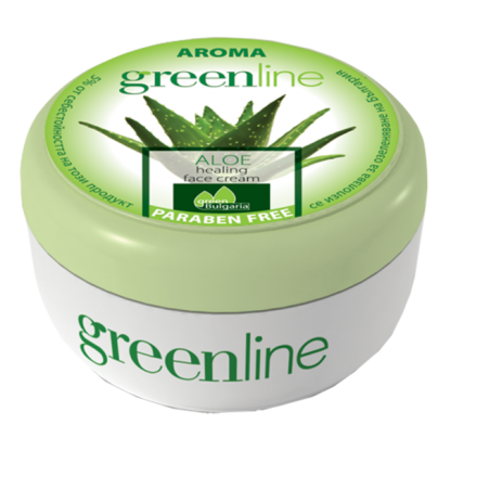 Aroma GreenLine заздравяващ крем за лице с алое 100ml