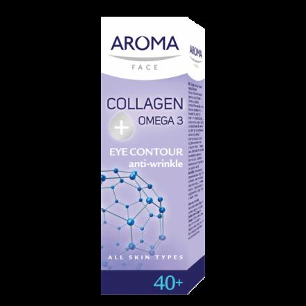 Aroma Face Collagen Omega 3 околоочен крем против бръчки 40+ 50ml