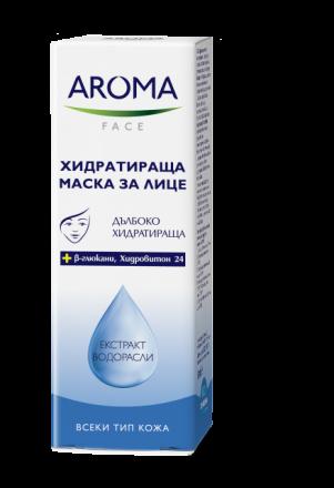 Aroma Face хидратираща маска за лице с екстракт от водорасли 50ml
