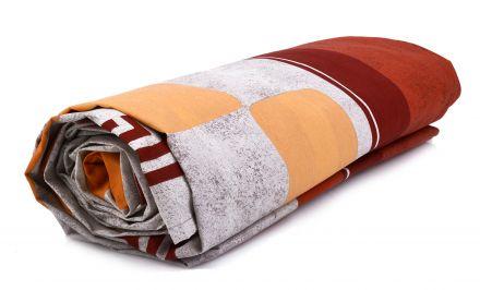 Долен чаршаф шарен с ластик Ранфорс
