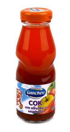 Ganchev-Сок от Ябълки и Моркови 200ml, 3+