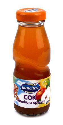 Ganchev-Сок от Ябълки и Круши 200ml, 3+