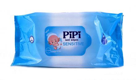 PIPI Sensitive-Бебешки влажни кърпички 72бр.