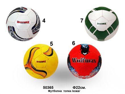 Футболна топка 5-ца кожа  Ф22см