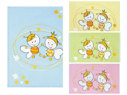 Lorelli-Бебешко памучно одеяло 85х110см. Пчелички