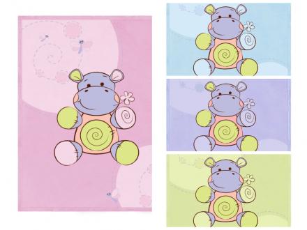 Lorelli-Бебешко памучно одеяло 85х110см. Хипопотам