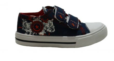 Mat Star Canv-Детски гуменки 14-14117 Navy/Red 22/27