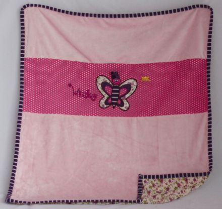 Амек Тойс-Бебешка плюшено двулицево одеяло 081274