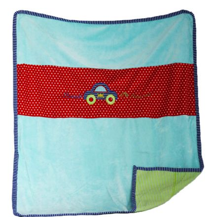 Амек Тойс-Бебешко плюшено двулицево одеяло 081275 синьо