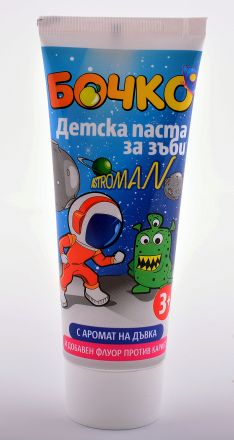 Бочко Astroman-детска паста за зъби с аромат на Дъвка-75ml,3+