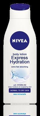 Nivea Express Hydration  подхранващо мляко за тяло 250ml