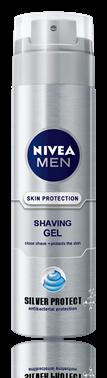 Nivea for Men Silver Protect гел за бръснене 200ml