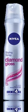 Nivea Diamond Gloss лак за коса за силна фиксация 250ml