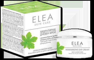Elea Skin Care хидратиращ дневен крем за мазна и смесена кожа 50ml