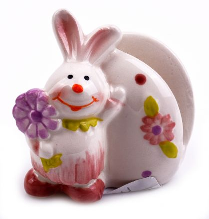 Великденски керамичен салфетник Зайче