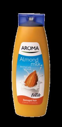 Aroma Fresh Бадем и Мляко балсам за увредена коса 400ml