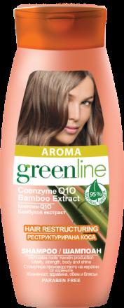 Aroma GreenLine шампоан за реструктурирана коса с екстракт от бамбук 250ml