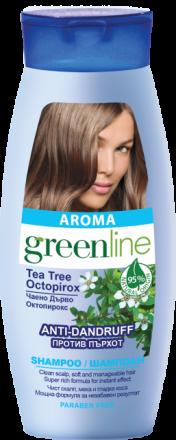 Aroma GreenLine шампоан против пърхот с екстракт от чаено дърво 250ml