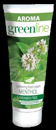 Aroma GreenLine омекотяващ крем за крака МЕНТОЛ 75ml