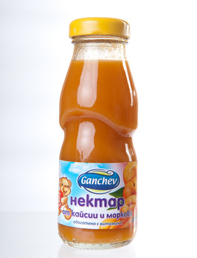 Ganchev-Нектар от Кайсии и Моркови 200ml, 3+