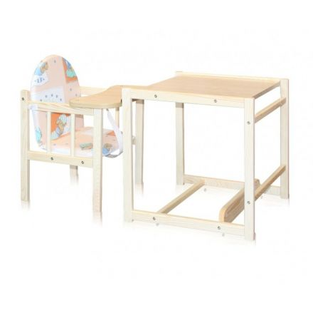 Loreli дървено столче за хранене WOODY