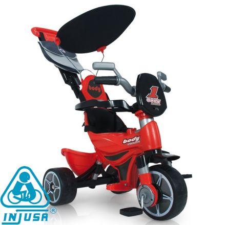 Moni Injusa - триколка за деца Body Complete Червена