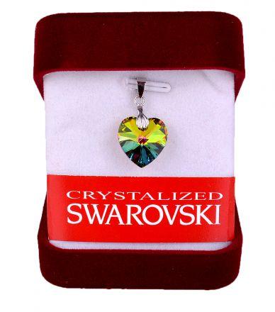 """Колие""""Сърце""""с кристал Сваровски със сребърно захващане"""
