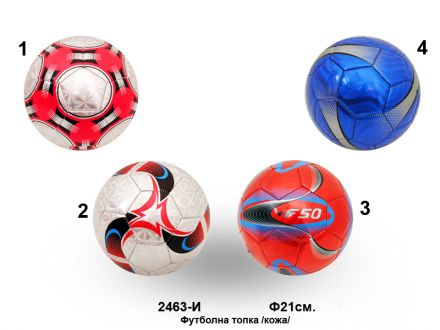 Футболна топка-цветна кожа  2463-И