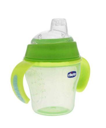 Chicco-Неразливаща се чаша с мек накрайник-с дръжки ,6+
